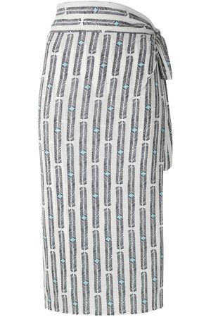 Lygia & Nanny Orixá printed wrap skirt
