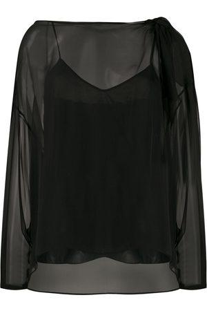 Emilio Pucci Layered sheer blouse