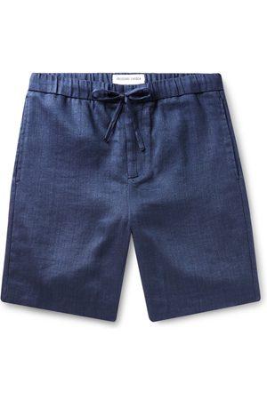 Frescobol Carioca Homem Calções - Felipe Slim-fit Linen And Cotton-blend Drawstring Shorts