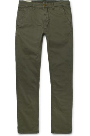 Nudie Homem Calças Justas - Slim Adam Garment-dyed Stretch Organic Cotton-twill Trousers