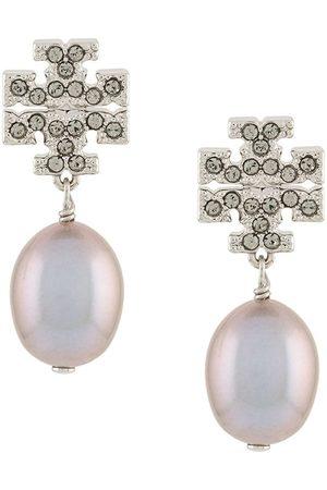 Tory Burch Kira pavé pearl drop earrings