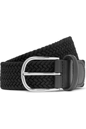 Anderson's Homem Cintos - 3.5cm Midnight-blue Woven Waxed-cord Belt