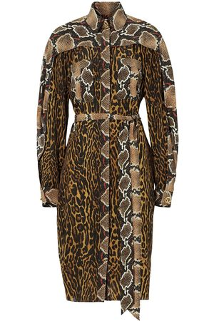 Burberry Animal print shirt dress