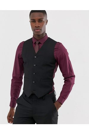 ASOS Slim suit waistcoat in black