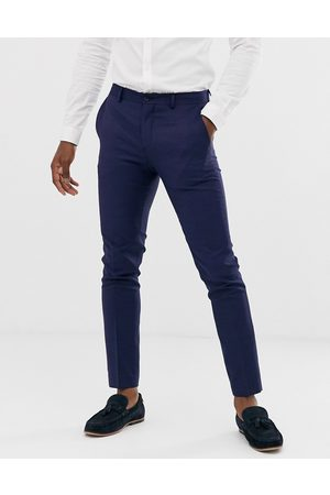 Jack & Jones Premium super slim fit stretch suit trousers in navy