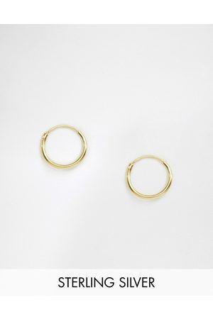 ASOS Sterling silver 12mm hoop earrings with 14k gold plating