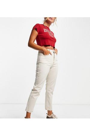 Reclaimed Vintage The '91 mom jean in ecru wash-White