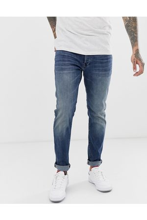 G-Star 3301 slim fit jeans in medium aged-Blue