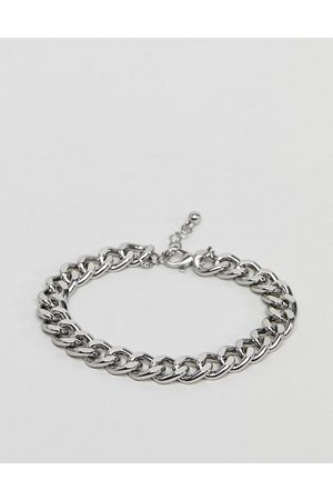 ASOS Midweight chain bracelet in silver tone