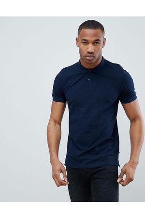 Jack & Jones Essentials slim fit pique logo polo in navy