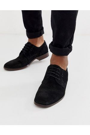 ASOS Derby shoes in black suede with natural sole