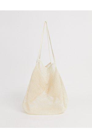 ASOS String shopper-Cream