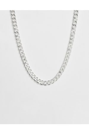 ASOS Homem Short chunky chain in silver tone