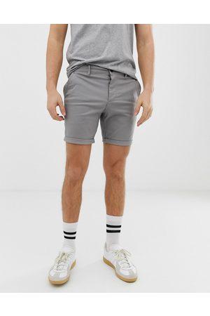 ASOS Slim chino shorts in light grey