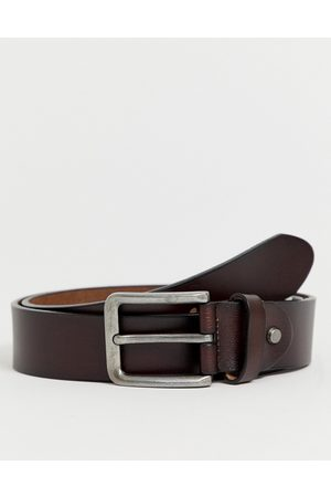 Only & Sons Leather belt in brown