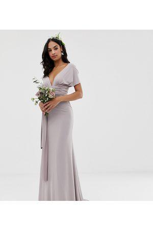 TFNC Bridesmaid exclusive multiway maxi dress in grey