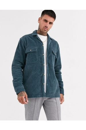 ASOS Cord overshirt in dusty blue