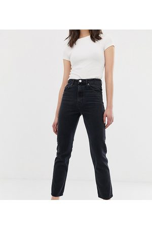 ASOS Tall ASOS DESIGN Tall Recycled Florence authentic straight leg jeans in washed black