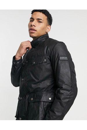Barbour Slim fit Duke wax jacket in black