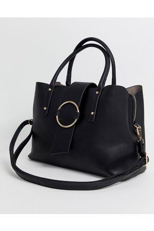ASOS Tote bag with ring detail-Black