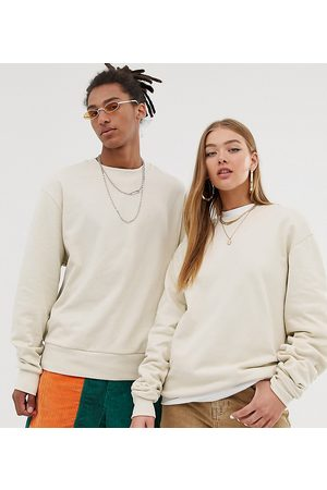 COLLUSION Unisex sweatshirt in ecru-White