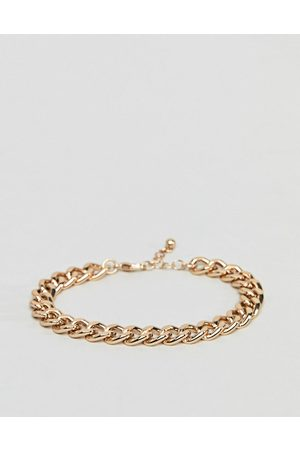 ASOS DESIGN Midweight chain bracelet in gold tone