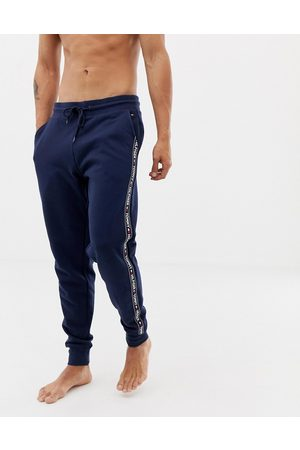 Tommy Hilfiger Authentic cuffed lounge joggers with side logo taping in navy