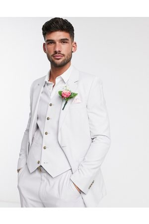 ASOS Wedding slim suit jacket in light grey