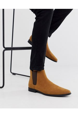 ASOS Chelsea boots in tan faux suede