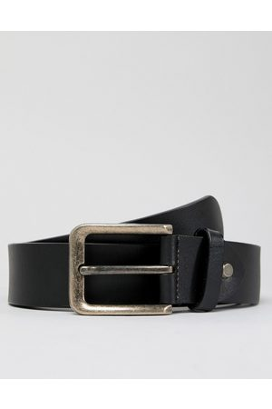 Only & Sons Leather belt in black