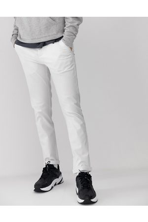 ASOS Slim chinos in white