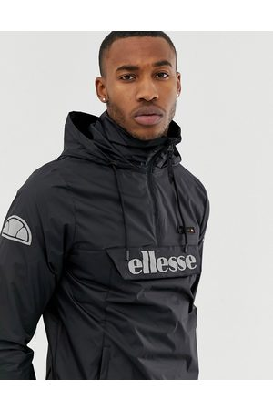 Ellesse Ion overhead jacket with reflective logo in black