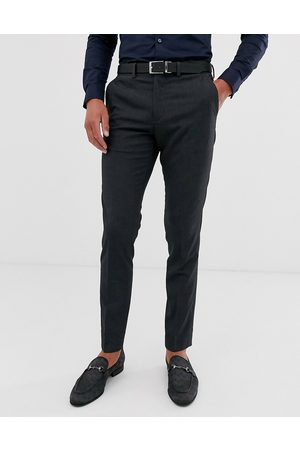 Jack & Jones Intelligence slim fit smart trousers in grey