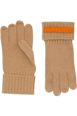 Burberry Cashmere logo appliqué gloves