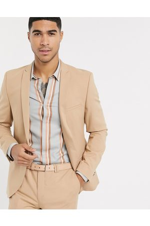 Viggo Recycled polyester suit jacket in tan