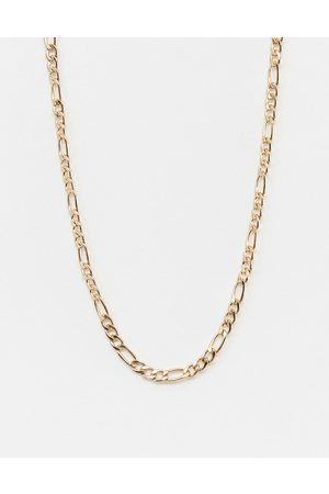 WFTW 3mm Figaro Chain Necklace In Gold