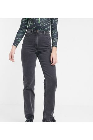 COLLUSION X006 Tall mom jeans in washed black