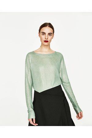 Senhora Camisolas - Zara CAMISOLA FOIL - Disponível em mais cores