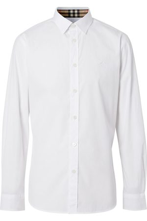 Burberry Embroidered logo oxford shirt