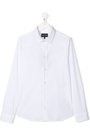 Emporio Armani TEEN embroidered logo shirt