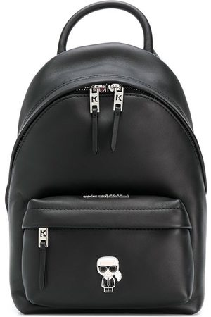 Karl Lagerfeld K/Ikonik metal logo backpack
