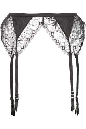 FLEUR DU MAL Gardenia lace garterbelt