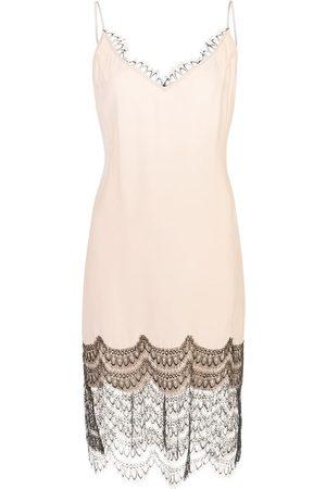Kiki de Montparnasse Lace trim slip dress