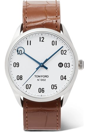 Tom Ford Homem Relógios - 002 40mm Stainless Steel And Alligator Watch