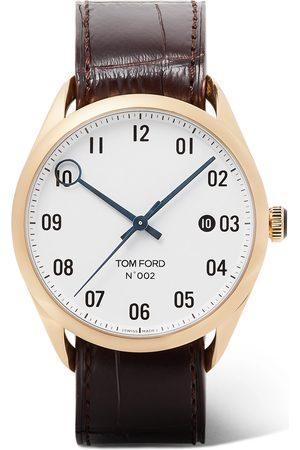 Tom Ford Homem Relógios - 002 40mm 18-karat Gold And Alligator Watch