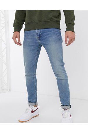 Levi's Homem Slim - 512 slim tapered fit jeans in pelican rust mid wash-Blue