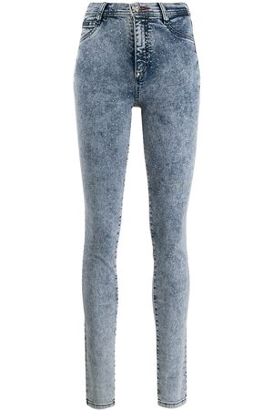 Philipp Plein Senhora Jeggings - High waisted denim jeggings