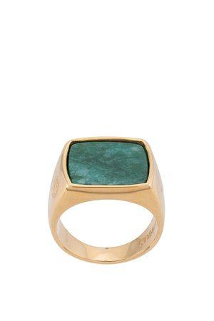 Nialaya Homem Anéis - Squared signet ring