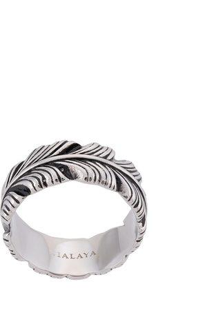 Nialaya Jewelry Homem Anéis - Feather engraved ring