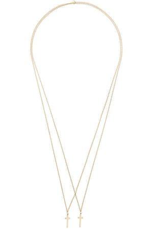 Dsquared2 Double cross pendant necklace